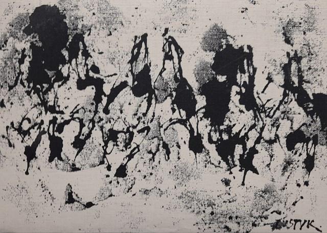 Obraz do salonu artysty Bogusław Lustyk pod tytułem Tabuny
