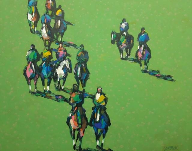 Obraz do salonu artysty Bogusław Lustyk pod tytułem Po wyścigu