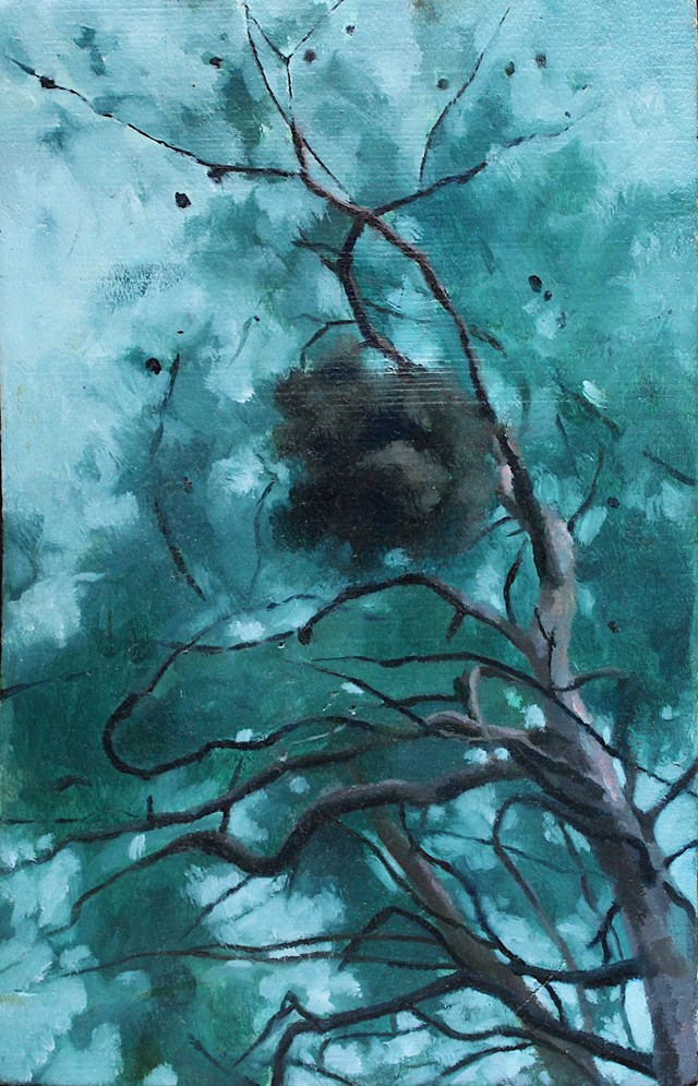 Living room painting by Maria Danielak titled Tree peculiarities 1
