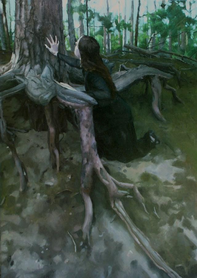 Obraz do salonu artysty Maria Danielak pod tytułem Korzenie