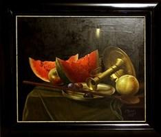 Living room painting by Bogdan Magnuski titled Still life