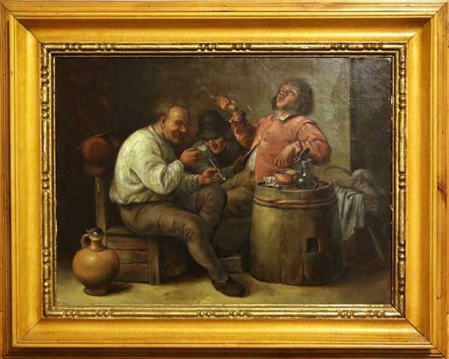Obraz do salonu artysty Andrzej Raczkowski pod tytułem Palacze