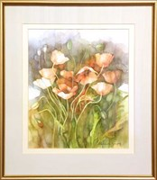 Living room painting by Marianna Gajek titled Flowers 7