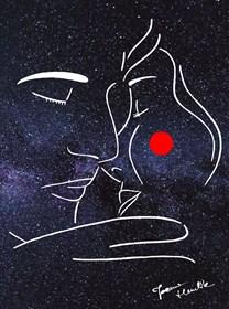 Grafika do salonu artysty Joanna Henclik pod tytułem Otuleni nocą