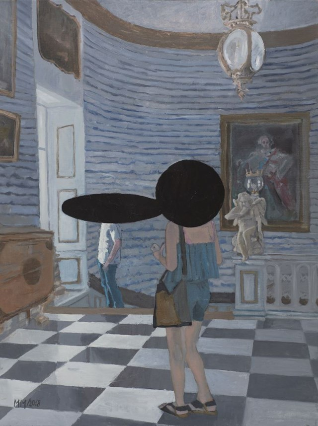 Living room painting by MARLENA MAJCHRZAK titled In the royal palace