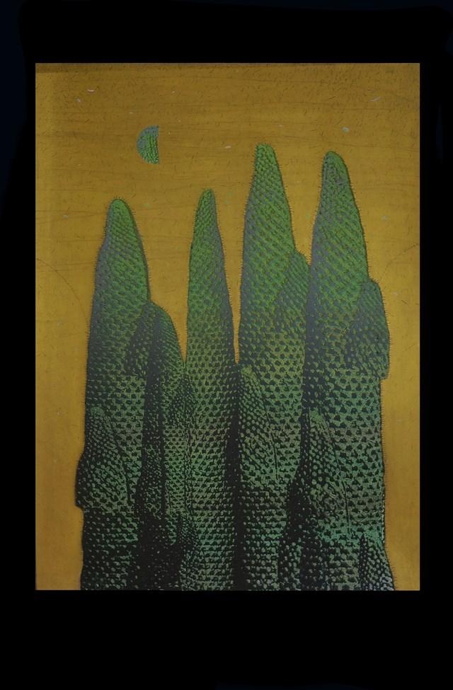 Grafika do salonu artysty Joanna Ordon pod tytułem Pejzaż Księżycowy 6
