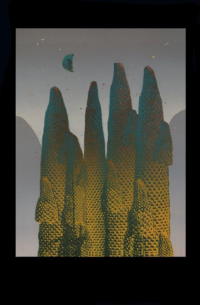 Grafika do salonu artysty Joanna Ordon pod tytułem Pejzaż Księżycowy 5