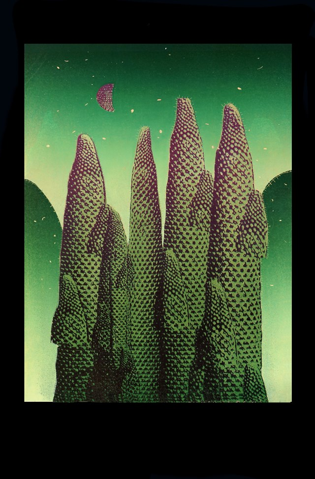 Grafika do salonu artysty Joanna Ordon pod tytułem Pejzaż Księżycowy 4