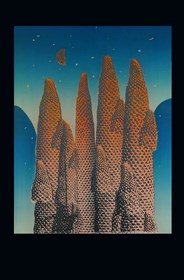 Grafika do salonu artysty Joanna Ordon pod tytułem Pejzaż Księżycowy 3