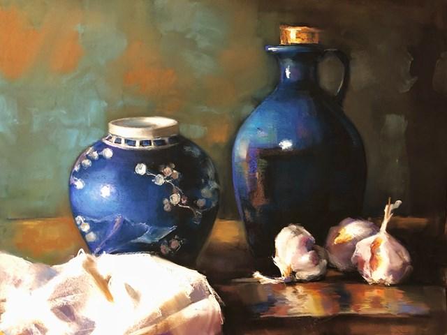 Obraz do salonu artysty Krystyna Khvostyk pod tytułem Czosnek