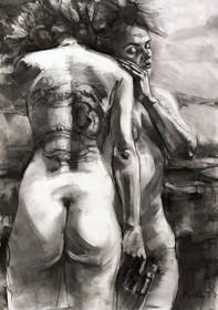 Grafika do salonu artysty Krystyna Khvostyk pod tytułem Сloseness