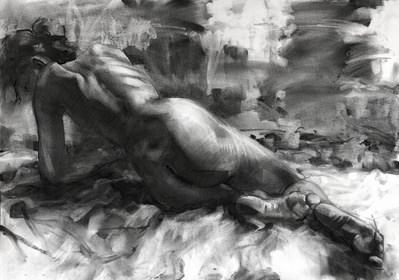 Grafika do salonu artysty Krystyna Khvostyk pod tytułem Model