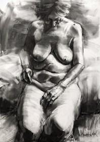 Grafika do salonu artysty Krystyna Khvostyk pod tytułem Mądrość