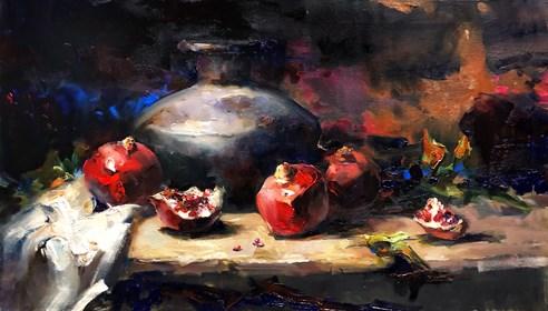 Obraz do salonu artysty Krystyna Khvostyk pod tytułem Red juice