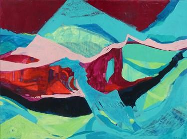 Obraz do salonu artysty Maria Bitka pod tytułem Pejzaż