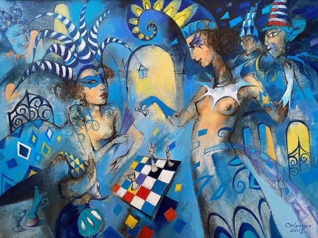 Obraz do salonu artysty Eugeniusz Ochonko pod tytułem Ganadora I I
