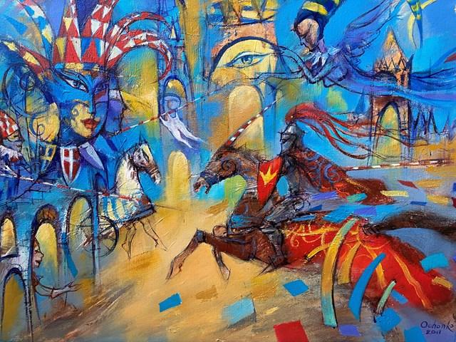 Obraz do salonu artysty Eugeniusz Ochonko pod tytułem Viajes de la Historia