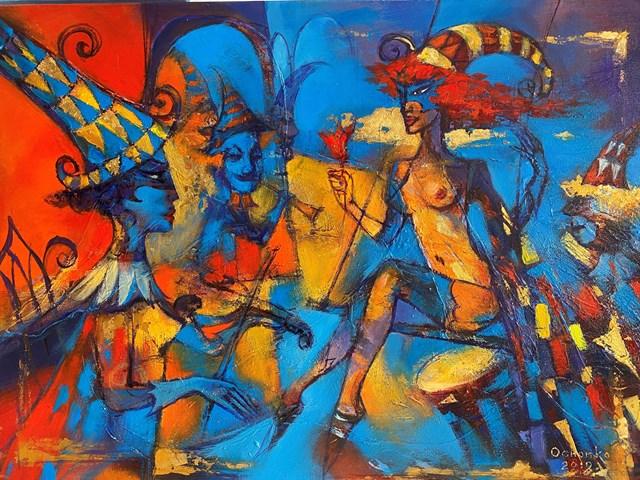 Obraz do salonu artysty Eugeniusz Ochonko pod tytułem El toque del Amor