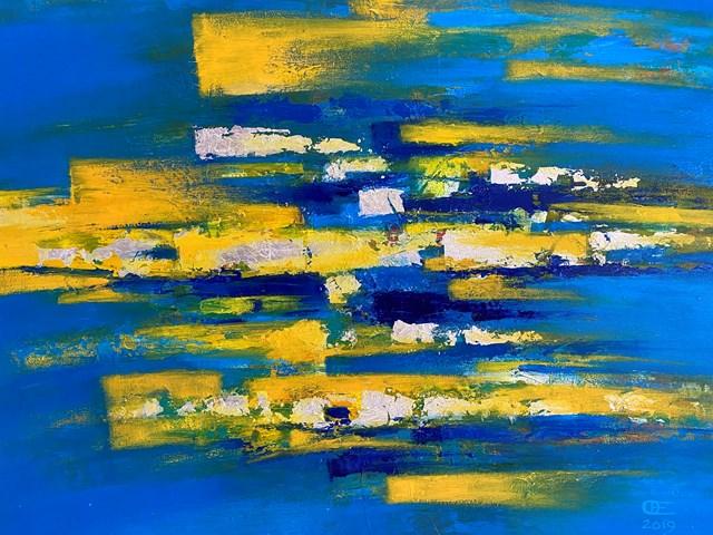 Obraz do salonu artysty Eugeniusz Ochonko pod tytułem Mar y Sol I