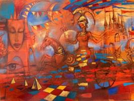 Obraz do salonu artysty Eugeniusz Ochonko pod tytułem Suenos de la Historia