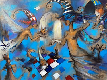 Obraz do salonu artysty Eugeniusz Ochonko pod tytułem Ganadora I