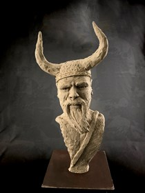 Living room sculpture by Mariusz Potyszka titled  37 Viking