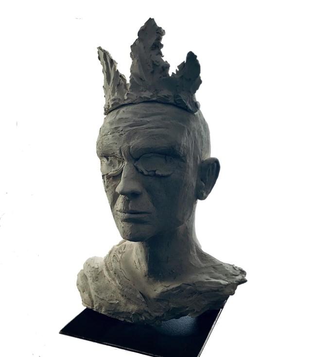 Rzeźba do salonu artysty Mariusz Potyszka pod tytułem #41 Blind_King