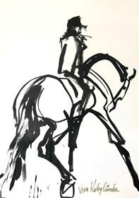 Grafika do salonu artysty Vera Kobylinska pod tytułem Black & white no 1