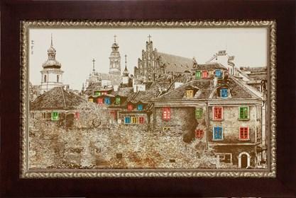Obraz do salonu artysty Wojciech Rogosz pod tytułem Stare Miasto Warszawa
