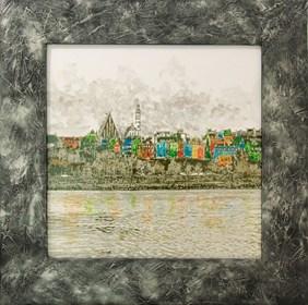 Obraz do salonu artysty Wojciech Rogosz pod tytułem Panorama Warszawy