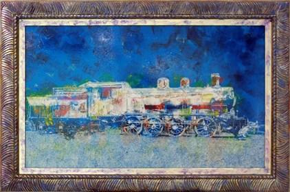 Grafika do salonu artysty Wojciech Rogosz pod tytułem Senna Lokomotywa