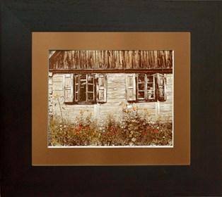 Grafika do salonu artysty Wojciech Rogosz pod tytułem Chata i Kwiaty