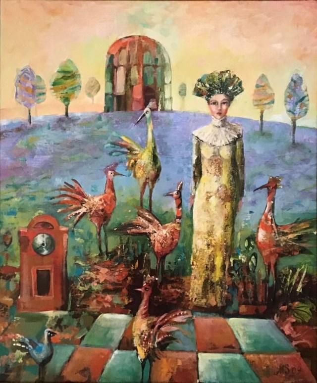 Obraz do salonu artysty Mira Smerek pod tytułem Bez tytułu