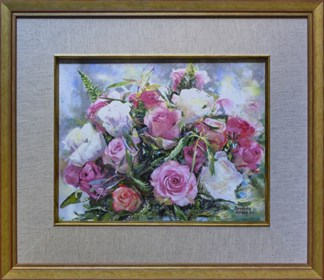 Living room painting by Anna Sandecka-Ląkocy titled Roses