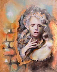 Obraz do salonu artysty Anna Sandecka-Ląkocy pod tytułem The Girl II