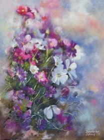 Obraz do salonu artysty Anna Sandecka-Ląkocy pod tytułem Flowers