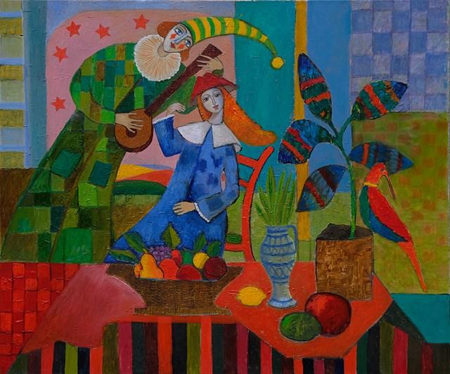 Obraz do salonu artysty Elżbieta Ostrowska-Łysak pod tytułem Spotkanie
