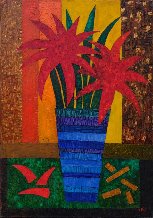 Obraz do salonu artysty Elżbieta Ostrowska-Łysak pod tytułem Zakochane gwiazdy