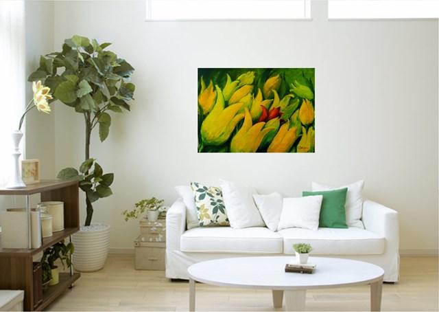 Tulipany - wizualizacja pracy autora Zbigniew Matysek