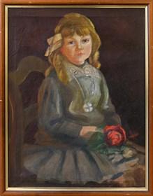 Obraz do salonu artysty Artysta Nierozpoznany pod tytułem Portret dziewczynki