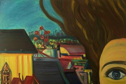 Obraz do salonu artysty Agnieszka Alpin pod tytułem 'Selfie w Brukseli'