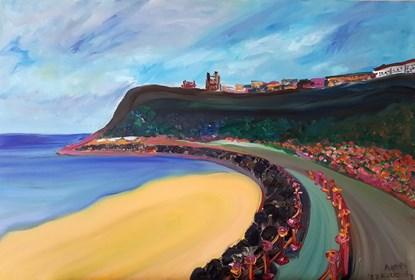 Obraz do salonu artysty Agnieszka Alpin pod tytułem 'Angielskie wybrzeże'