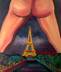 Obraz do salonu artysty Agnieszka Alpin pod tytułem 'Selfie w Paryżu'