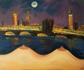 Obraz do salonu artysty Agnieszka Alpin pod tytułem 'Selfie w Londynie'