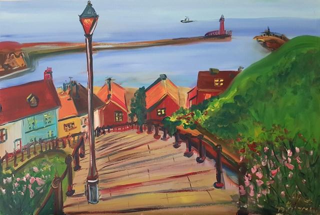 Obraz do salonu artysty Agnieszka Alpin pod tytułem 'Wybrzeże w Yorkshire'