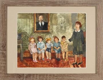 Obraz do salonu artysty Małgorzata Rozmarynowska pod tytułem Nauczanie początkowe