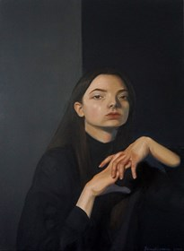 Living room painting by Iryna Sevastianova titled Portrait