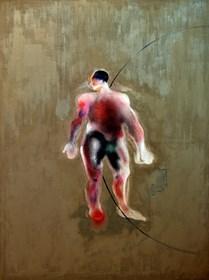 Obraz do salonu artysty Marcin Lipiec pod tytułem studium człowieka za Vesaliusem