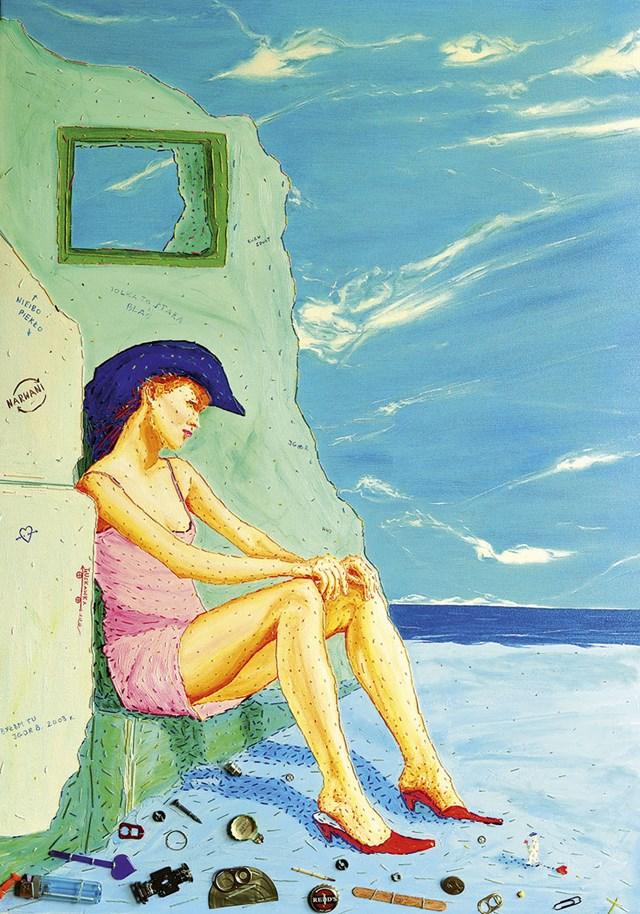 Obraz do salonu artysty Igor Buszkowski pod tytułem Kobieta w kapeluszu