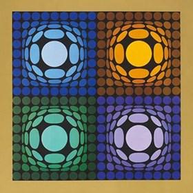 do salonu artysty Victor Vasarely pod tytułem VEGA-BI-ARCT